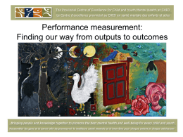 The role of CAFAS in measuring organizational and