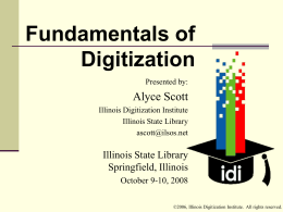 Fundamentals of Digitization