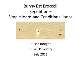 Bunny Eat Broccoli Repetition – Simple loops and
