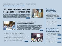 Boletín Interno N°1 Dirección de Desarrollo