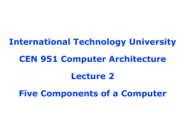 International Technology University CEN 951