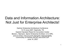 Enterprise Architecture: Not Just for Enterprise