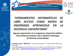 HERRAMIENTAS INFORMÁTICAS DE LIBRE ACCESO COMO