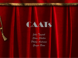 CAATs - Cameron School of Business