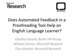 Using Contextual Speller Techniques and Language