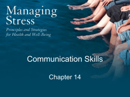 Chapter 14: Communication Skills