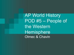 AP World History POD #5 – People of the Western