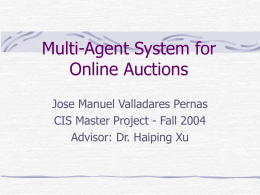 Multi-Agents Auction System