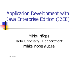Application Development with Java Enterprise