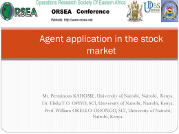 AN AGENT BASED STOCK PRICE PREDICTION MODEL FOR