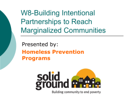 Building Intentional Partnerships to Reach