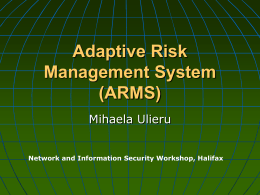Adaptive Risk Management System