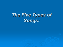 The Six Types of Songs: