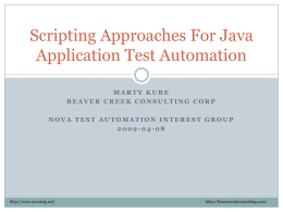 Scripting Approaches For Java Application Test