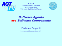 Software Agents are Software Components - ICAR-CNR