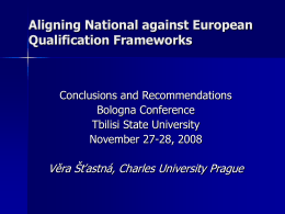 Aligning National against European Qualification