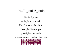 Intelligent agents - Carnegie Mellon University