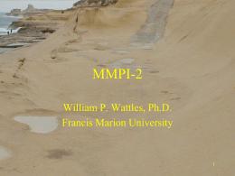 MMPI-2 - Francis Marion University