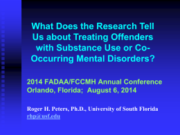 NIMH Co-Occurring Disorders Curriculum