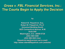 Gross v. FBL Financial Servs., Inc.: The Courts
