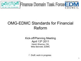 EDMC / OMG FDTF