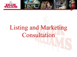 My Listing Presentation - Keller Williams Realty
