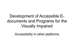 Development of Accessible E