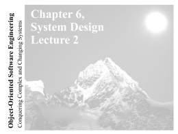 Lecture 2 for Chapter 6, System Design - ICAR-CNR