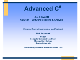 Advanced C#
