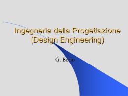 Ingegneria della Progettazione