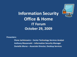 IT Forum October 29, 2009