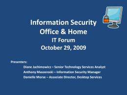 IT Forum October 29, 2009