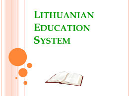 Lithuanian Education System
