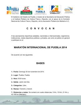 conv maraton internacional
