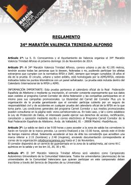 Reglamento -Maraton ESP 2014