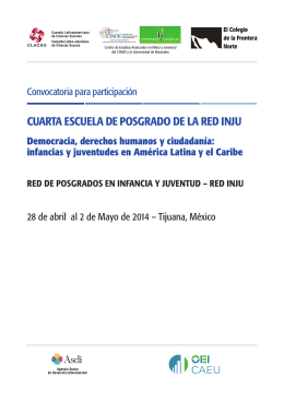 Convocatoria Red INJU 2014