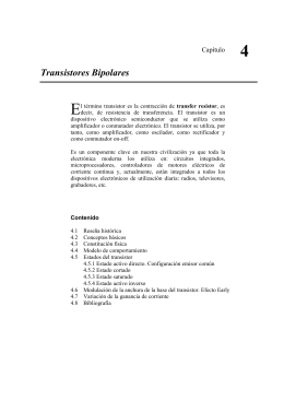 Capitulo 4 - Transistores Bipolares