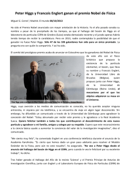 Nobel Fisica 2013