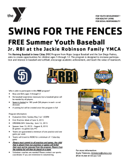 SWING FOR THE FENCES - Jackie Robinson Family YMCA