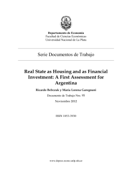 A First Assessment for Argentina
