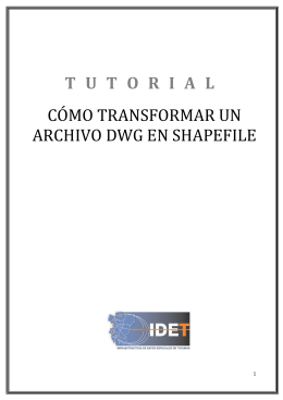 tutorial cómo transformar un archivo dwg en shapefile