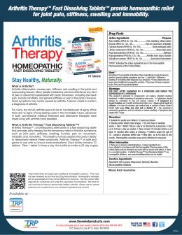 Arthritis Therapy - The Relief Products