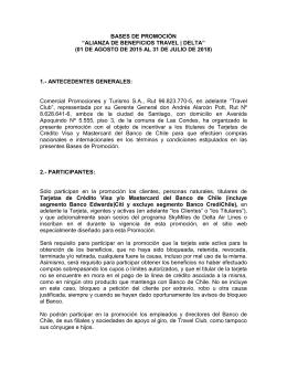 """BASES DE PROMOCIÓN """"ALIANZA DE"""