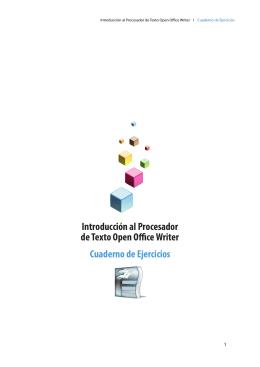Cuaderno de Ejercicios Introducción al Procesador de Texto Open