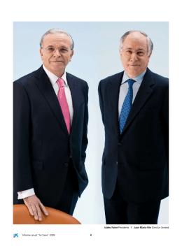 """Informe anual """"la Caixa"""" 2009 4 isidro Fainé Presidente I Juan María"""
