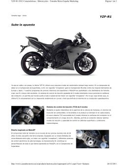 Folleto de producto - Yamaha Motor México