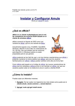 Instalar y Configurar Amule