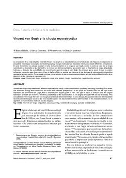 Vincent van Gogh y la cirugía reconstructiva Ética, filosofía e historia