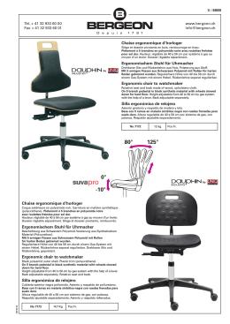 Chaise ergonomique d`horloger Ergonomischem