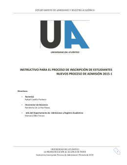 Instructivo Inscripciones 2015-1-2